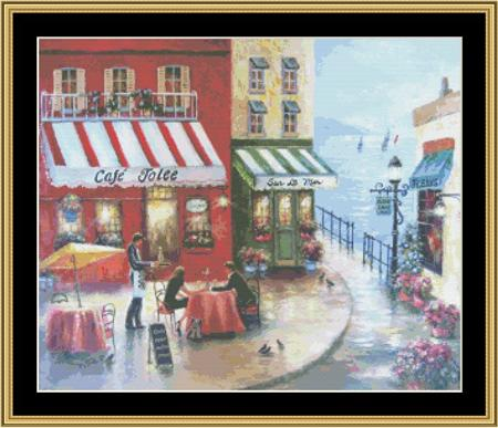 click here to view larger image of French Cafe By The Sea (chart)