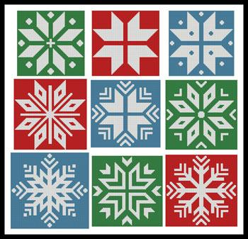 click here to view larger image of Christmas Snowflake Set 3 (chart)