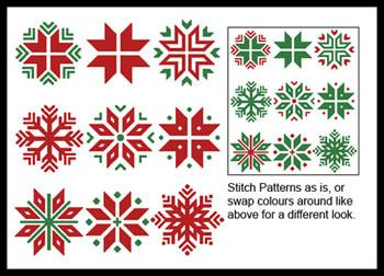 click here to view larger image of Christmas Snowflake Set 1 (chart)