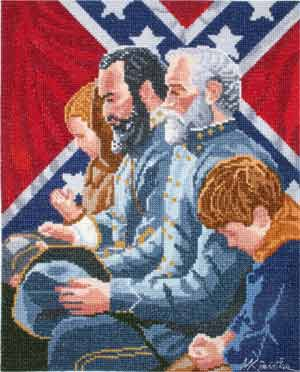 click here to view larger image of The Generals Were Brought To Tears (counted cross stitch kit)