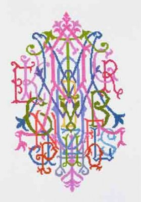 click here to view larger image of Alphabet Quilt Monogram (counted cross stitch kit)