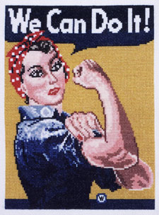 click here to view larger image of Rosie the Riveter (counted cross stitch kit)