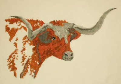 click here to view larger image of Texas Longhorn (counted cross stitch kit)