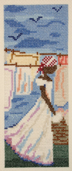 click here to view larger image of Blue Monday (counted cross stitch kit)