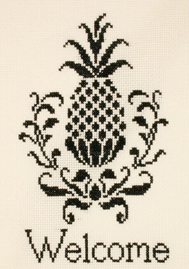 click here to view larger image of Welcome Pineapple (counted cross stitch kit)