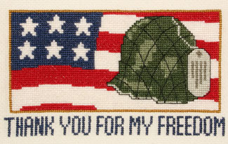 click here to view larger image of Thank You For My Freedom (counted cross stitch kit)