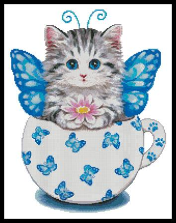click here to view larger image of Butterfly Kitty Cup (chart)