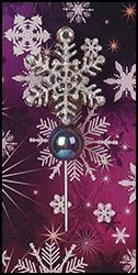 click here to view larger image of Sparkle Flake Charm Garden Pin - Limited Edition (pin)