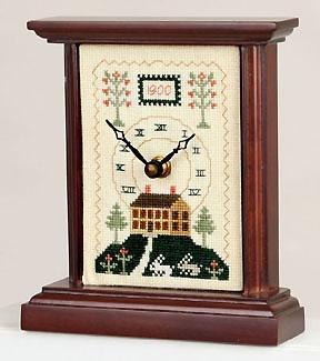 click here to view larger image of Carriage Clock 3.5in x 5in - Mahogany (stitchable)