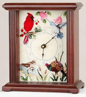 click here to view larger image of Petite Mantel Clock 5in x 7in - Mahogany (accessory)