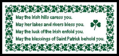 click here to view larger image of Irish Blessing (chart)