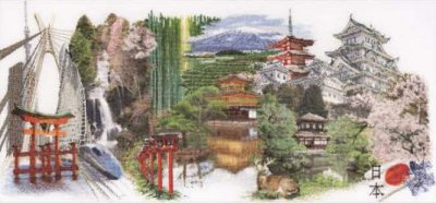 click here to view larger image of Japan - Aida (counted cross stitch kit)
