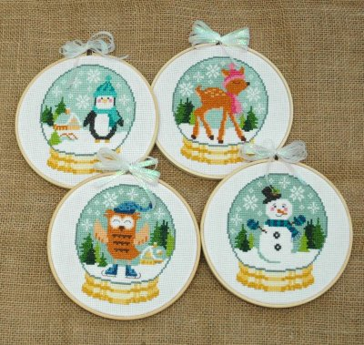 click here to view larger image of Winter Cuties - 4 designs (chart)