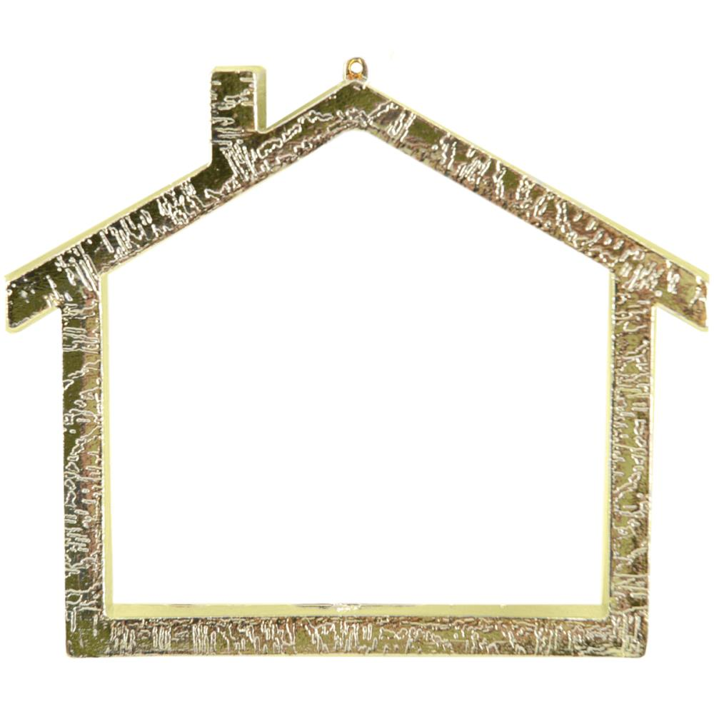 click here to view larger image of Gold House Frame with Backing - 2.75in x 3.375in (frame (ready made))