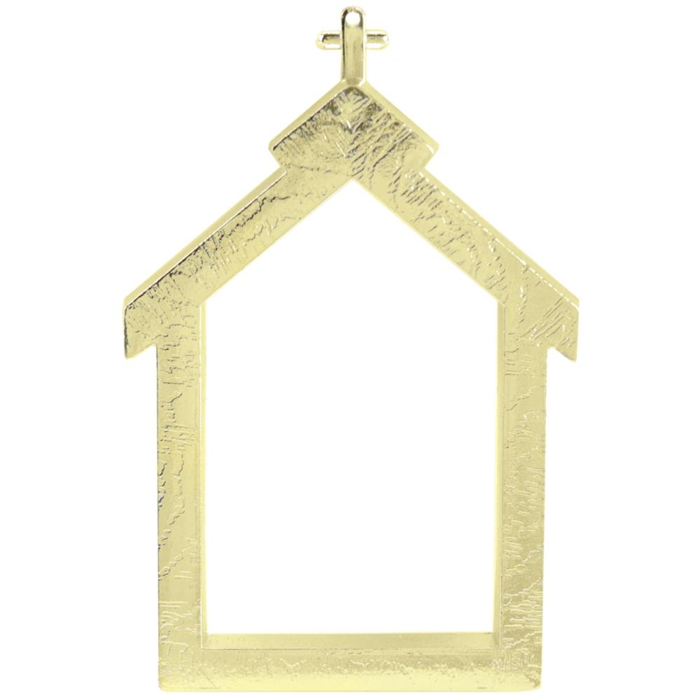 click here to view larger image of Gold Church Frame With Backing - 3.25in x 2.375in (frame (ready made))