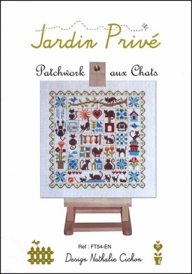 click here to view larger image of Patchwork Aux Chats (chart)