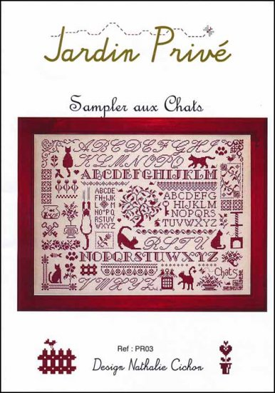 click here to view larger image of Sampler Aux Chats (chart)