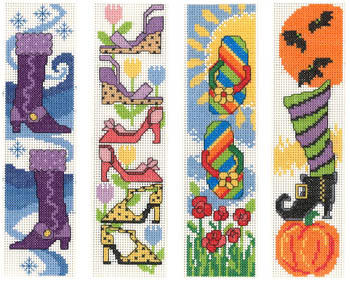 click here to view larger image of Shoes For All Seasons Bookmarks (chart)