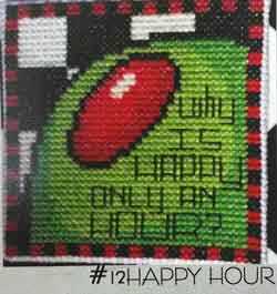 click here to view larger image of Happy Hour - Fridge Art 12 (Magnet Included) (chart with charms/buttons)