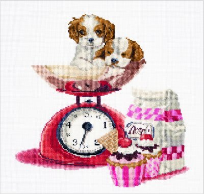 click here to view larger image of Baking Puppy (counted cross stitch kit)