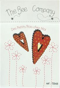 click here to view larger image of 2 Red Hearts With Peas Buttons (buttons)