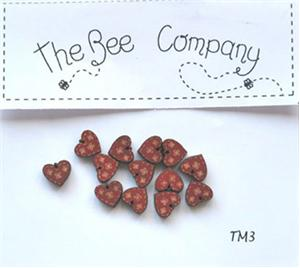 click here to view larger image of 12 Mini Red Heart Buttons (buttons)