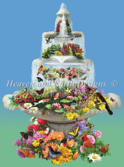 click here to view larger image of Fountain Fantasy - Large Print (chart)