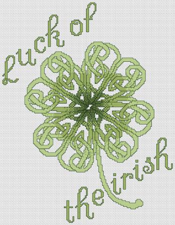 click here to view larger image of Celtic Shamrock (chart)