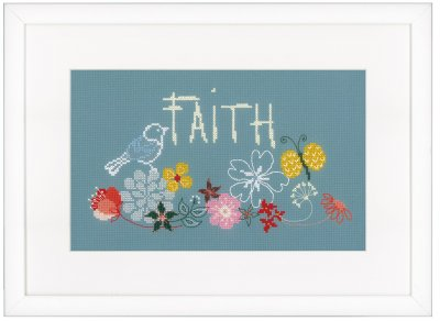 click here to view larger image of Faith (counted cross stitch kit)