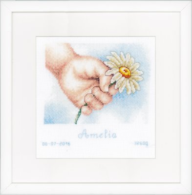 click here to view larger image of Hand With Daisy (counted cross stitch kit)