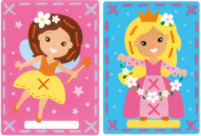 click here to view larger image of Fairy / Princess Cards (Set of 2) (counted cross stitch kit)
