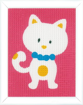 click here to view larger image of Cute Cat - Canvas (needlepoint)