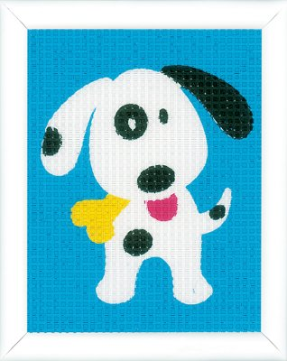 click here to view larger image of Cute Dog - Canvas (needlepoint)