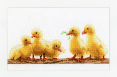 click here to view larger image of Young Ducklings (counted cross stitch kit)