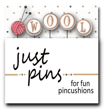 click here to view larger image of Just Pins - Block Party - W Is For Wool (pin)