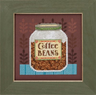 click here to view larger image of Coffee  Beans - Good Coffee and Friends (counted cross stitch kit)
