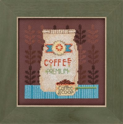 click here to view larger image of Coffee Grounds - Good Coffee and Friends (counted cross stitch kit)