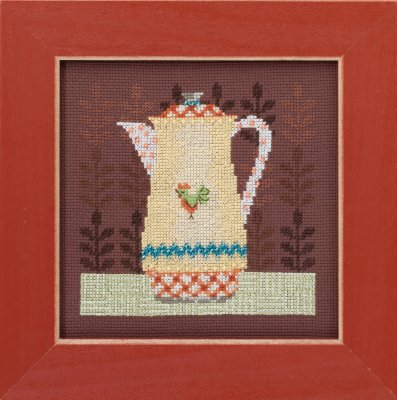 click here to view larger image of Coffee Server - Good Coffee and Friends (counted cross stitch kit)