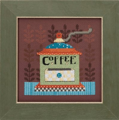 click here to view larger image of Coffee Grinder - Good Coffee and Friends (counted cross stitch kit)