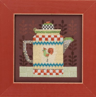 click here to view larger image of Coffee Pot - Good Coffee and Friends (counted cross stitch kit)