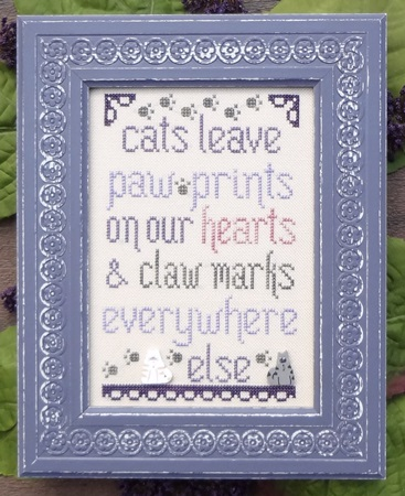 click here to view larger image of Cats Leave Paw Prints - The Snark Version (chart)