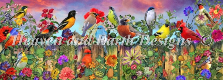 click here to view larger image of Birds And Blooms Garden (chart)