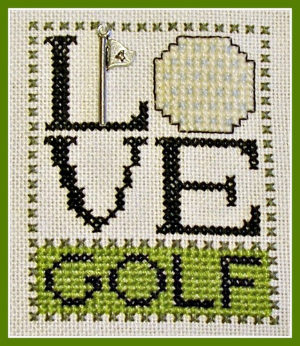 click here to view larger image of Love Bits - Love Golf (chart with charms/buttons)