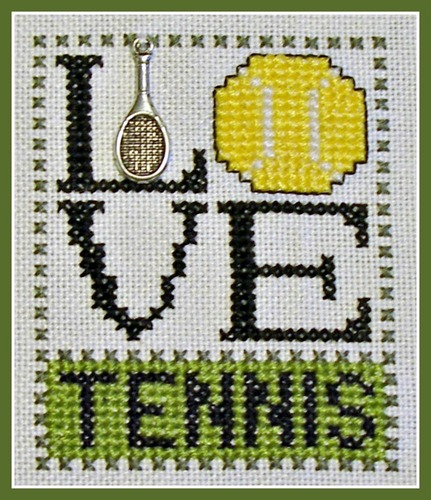 click here to view larger image of Love Bits - Love Tennis (chart with charms/buttons)
