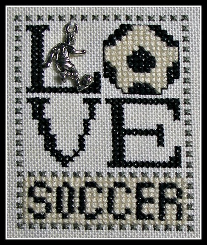 click here to view larger image of Love Bits - Love Soccer (chart with charms/buttons)