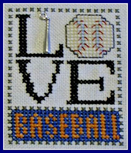 click here to view larger image of Love Bits - Love Baseball (chart with charms/buttons)