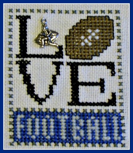 click here to view larger image of Love Bits - Love Football (chart with charms/buttons)