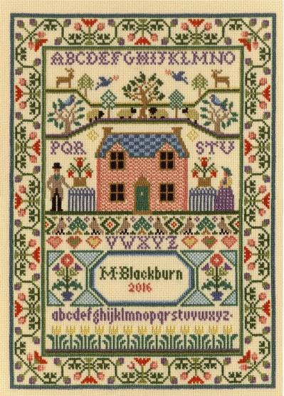 click here to view larger image of Country Cottage (Kit) (counted cross stitch kit)