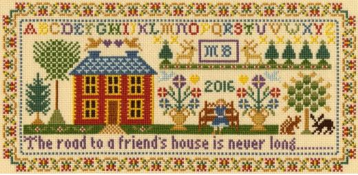 click here to view larger image of Friends House (Kit) (counted cross stitch kit)