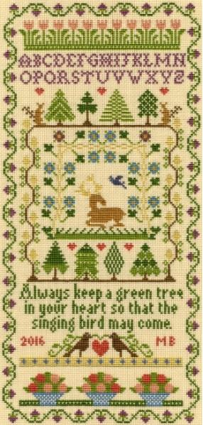 click here to view larger image of Green Tree (Kit) (counted cross stitch kit)